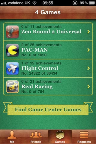 Game Center iphone
