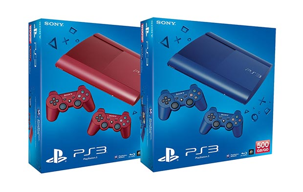 red and blue ps3s