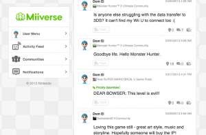 Miiverse on the web