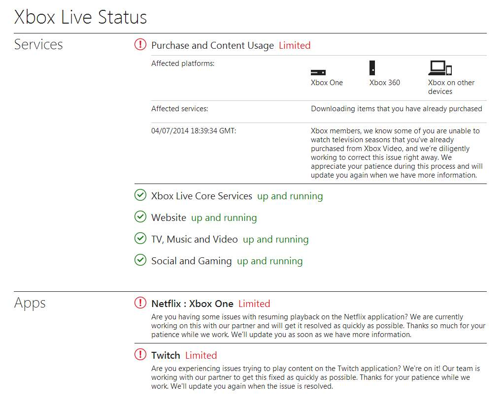 There Are Twitch, Netflix And Video Problems On Xbox Live – TheSixthAxis