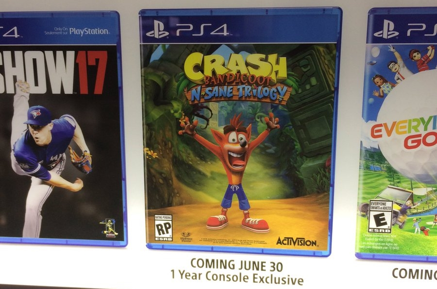 Crash Bandicoot N-Sane Trilogy Maybe A One Year Exclusive On PS4