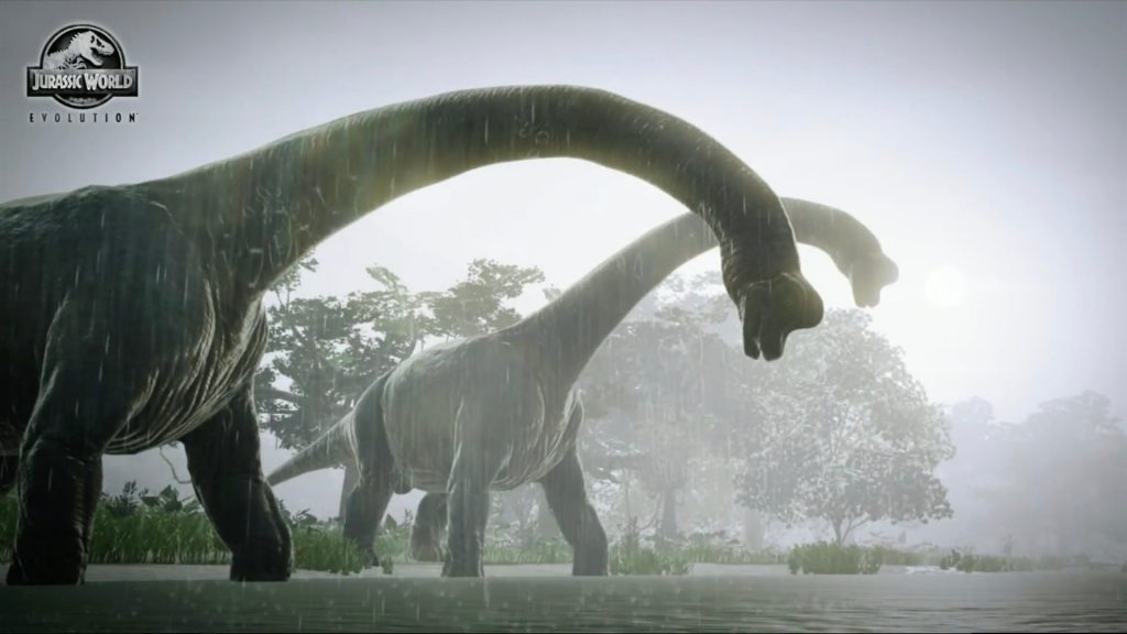 Walking with dinosaurs in Jurassic World Evolution's first gameplay trailer