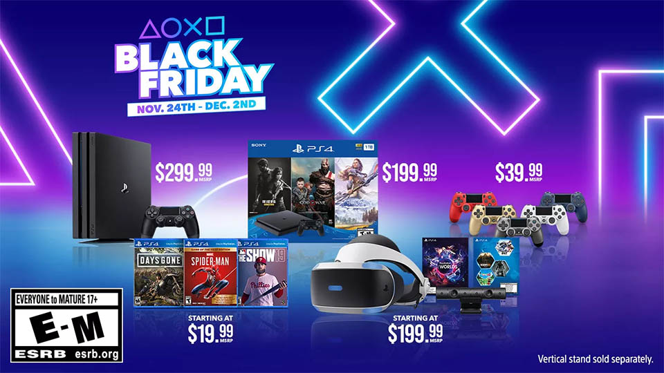 PlayStation reveals big savings in its Black Friday and Cyber Monday deals