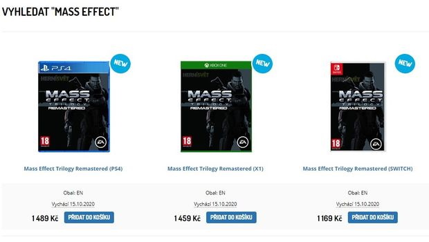 "Retailers briefly listed ""Mass Effect Trilogy Remastered"" for PS4, Xbox One, and Switch earlier this month."
